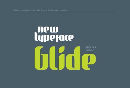 11. Glide Font