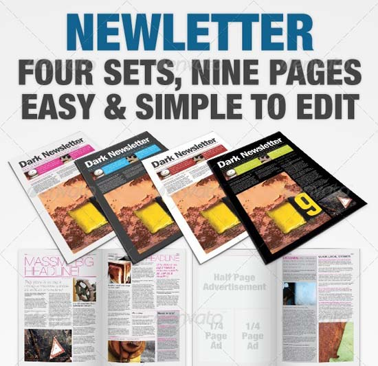 12-Clear Newsletters - InDesign