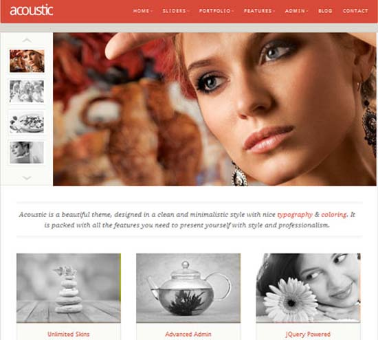 Acoustic – Powerful Elegant WordPress Theme