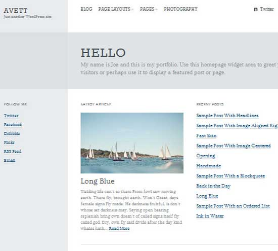 Avett: WordPress Portfolio Genesis Child Theme