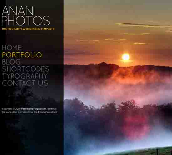ANAN – For Photography Creative Portfolio