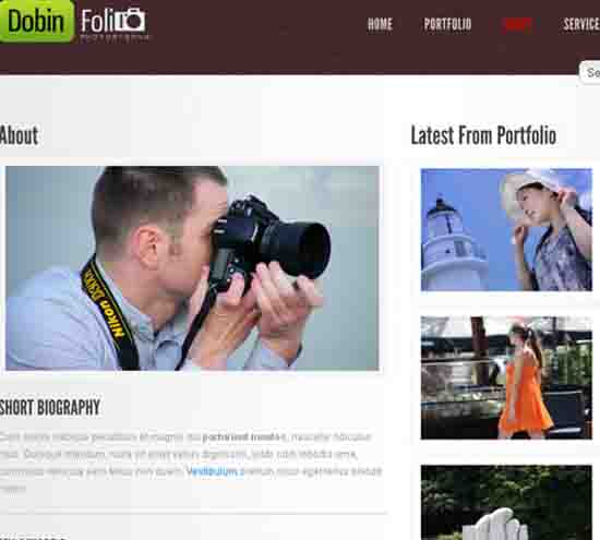 Dobin Folio – Photography & Corporate WP CMS