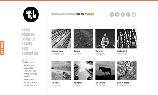 21-spotlight-clean-minimal-wordpress-theme