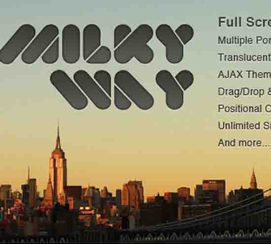 Milky Way – Full Screen Professional Portfolio