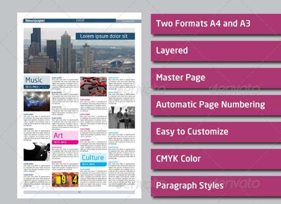 3-Newspaper Template