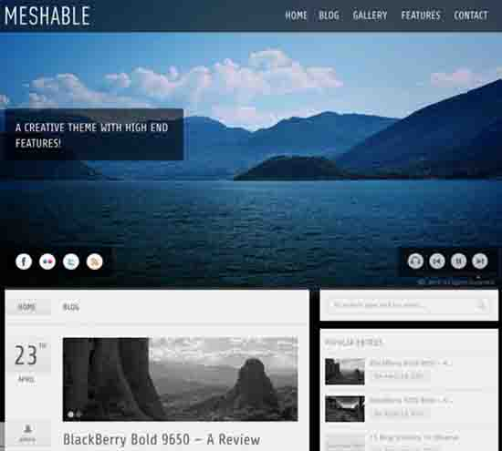 Meshable – Photography & Personal Fullscreen Theme