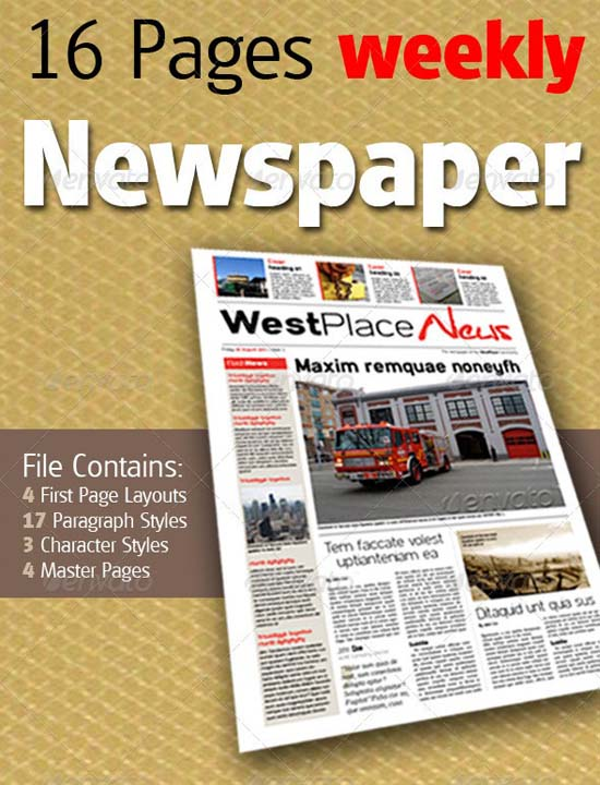 4-16 Pages Weekly Newspaper