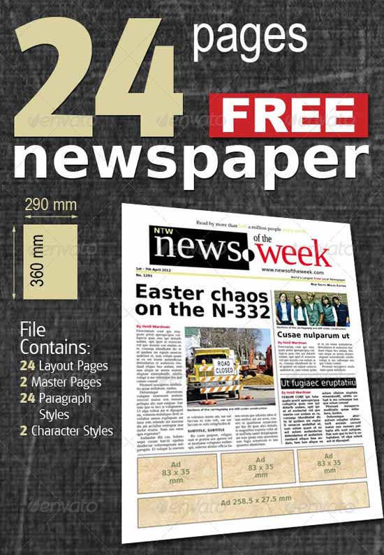 5-24 Pages Free Newspaper