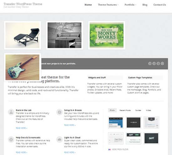 Transfer WordPress Theme