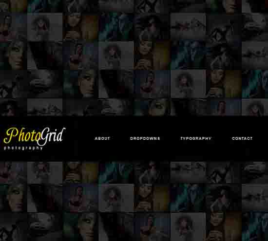 PhotoGrid – One Page Ajax Photography WP Theme