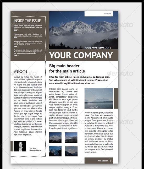 8-Newsletter Template