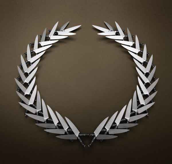 9-Civic Crown made from Knives