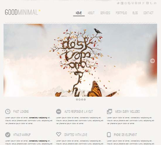 Good Minimal – A Responsive WordPress Theme