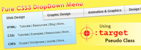 Pure CSS DropDown Menu using