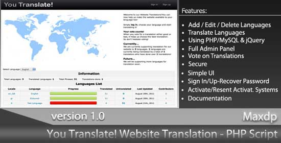 You Translate! Website Translation System