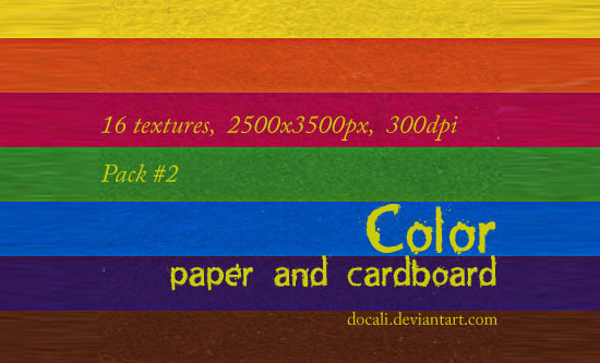 Color Paper + Cardboard Pack02