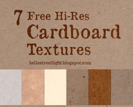 7 Hi-Res Cardboard Textures