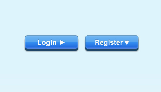 CSS3 push-down Buttons