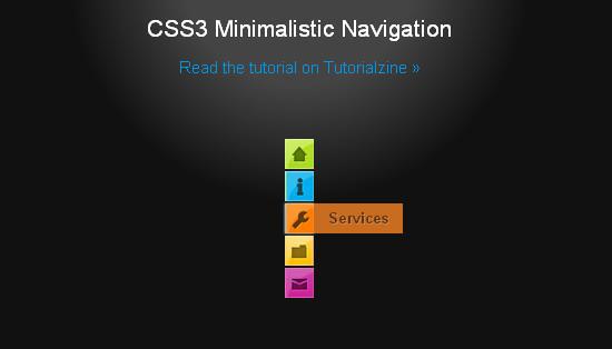CSS3 Minimalistic Navigation Menu