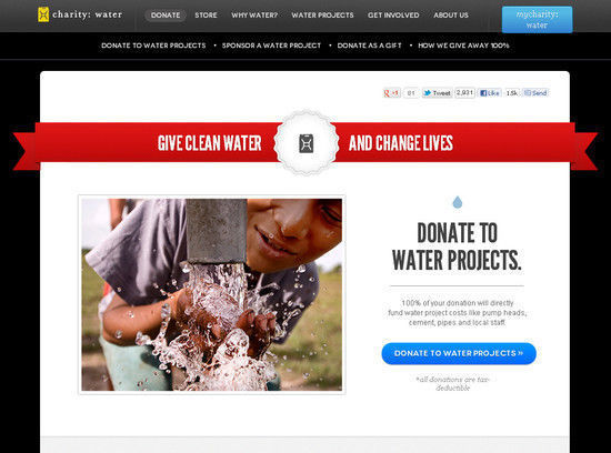 Charity: Water's
