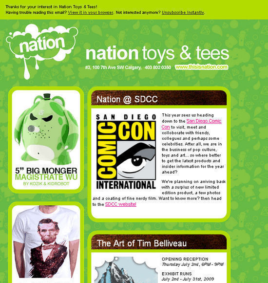 Nation toys and tees newsletter