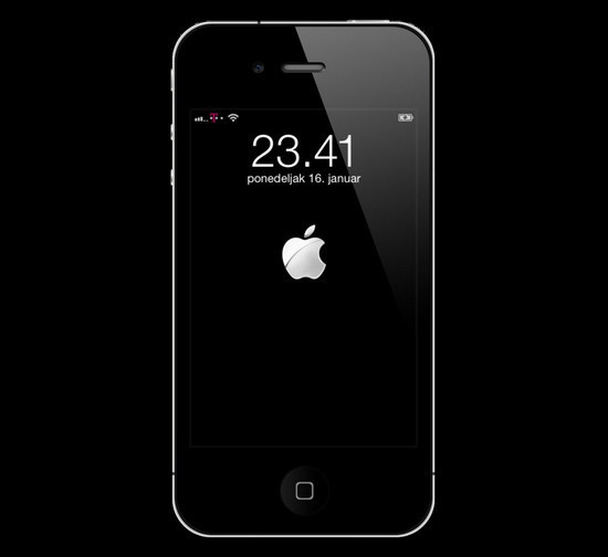 Animated iOS 5 Boot Logo for Lockscreen