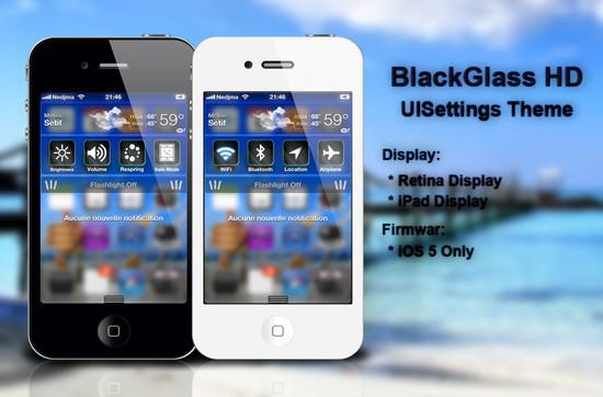 BlackGlassHD UISettings Theme