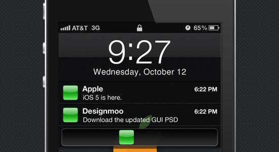 iOS 5 GUI PSD