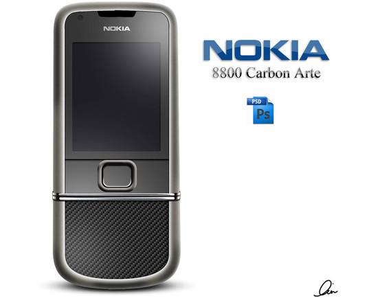 Nokia 8800 Carbon .PSD