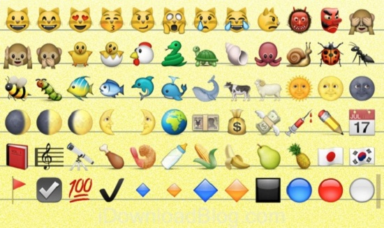 10. New Icons in Emoji