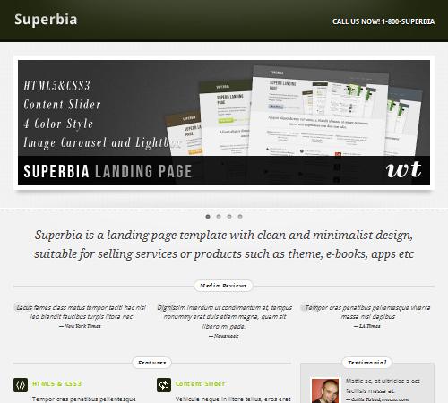 Superbia Landing Page