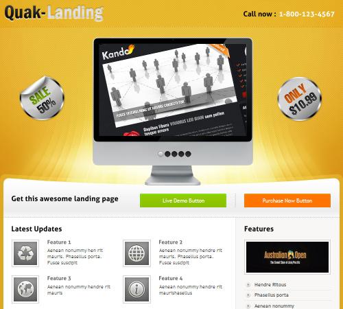 Quak – Landing page 70 variations