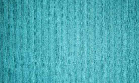 17. Turquoise Ribbed Knit Fabric Texture