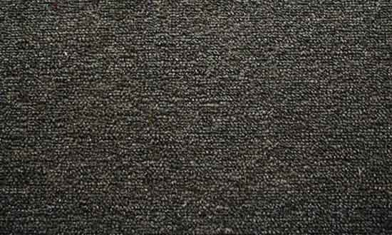 19. tightly woven black carpet
