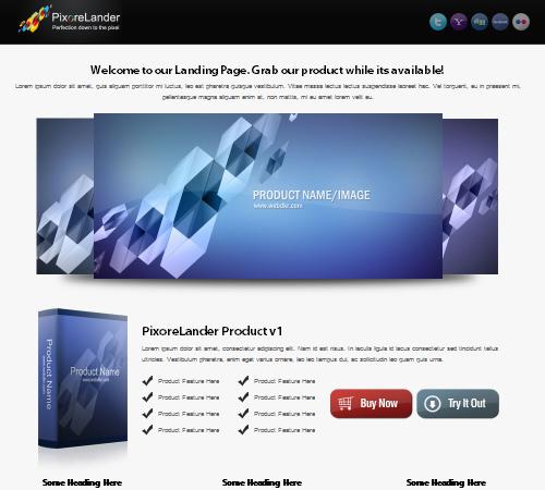 PixoreLander – Premium xHTML/CSS Landing Page