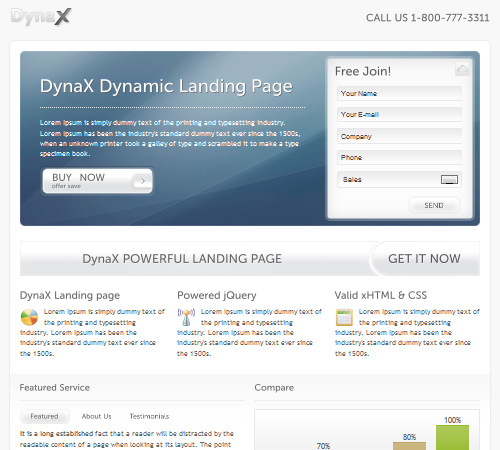 DynaX – Landing Page