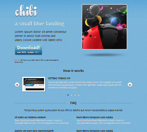 Chibi – a small blue landing page