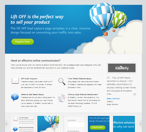 Lift Off – Lead Capture Page