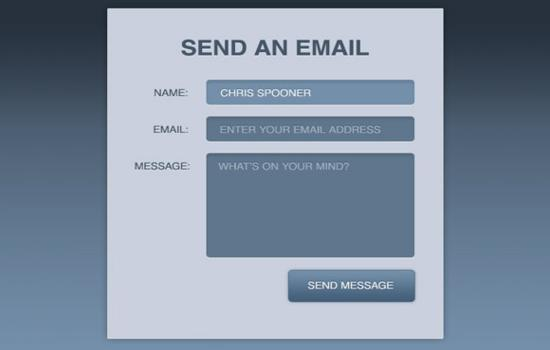 Create a Stylish Contact Form with HTML5 & CSS3