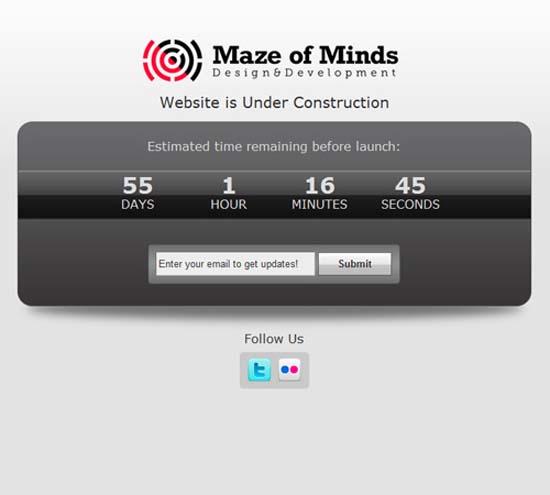 MofM WordPress Coming Soon Template