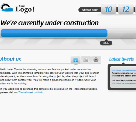 Animated Under Construction – Twitter & Ajax forms