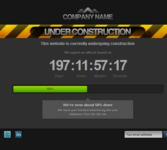 eConstruction – Under Construction Page