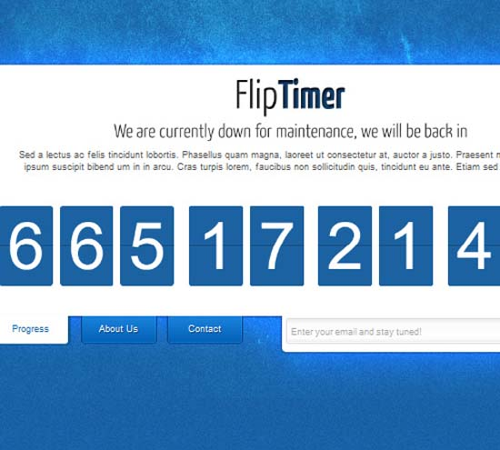 FlipTimer Under construction Template