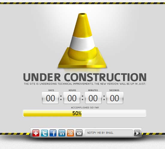 Road Cone Under Construction Pages