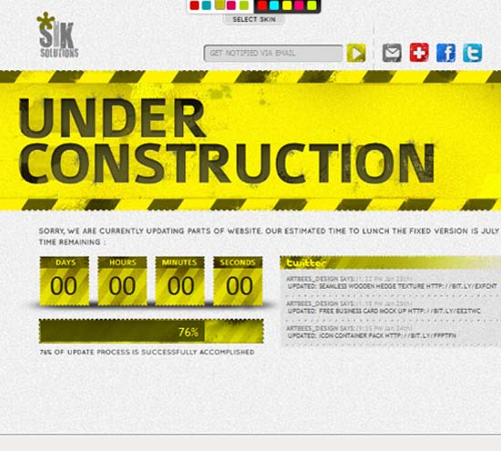 Grunge Under Construction Pages