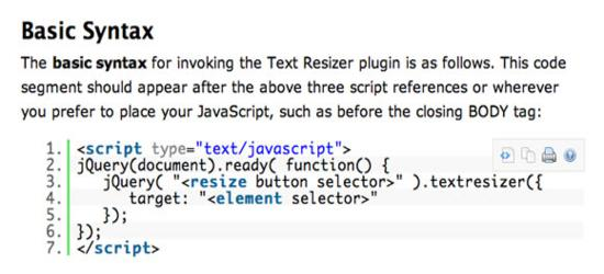 jQuery Text Resizer