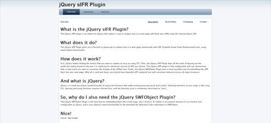 jQuery sIFR Plugin