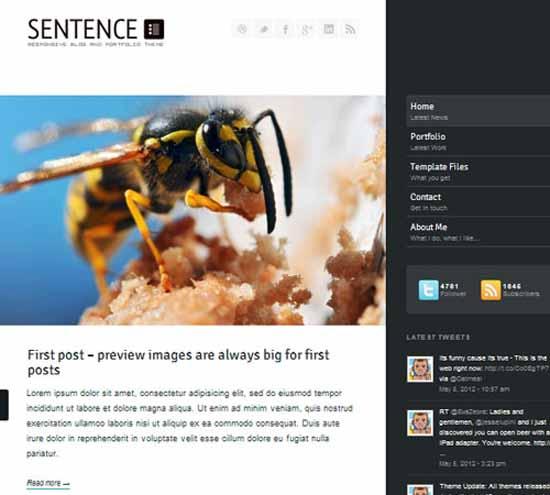 Sentence – Responsive Blog and Portfolio