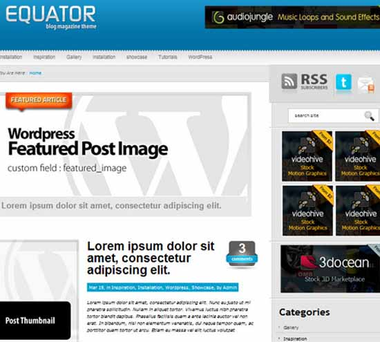 eQuator – Global Community WordPress Theme