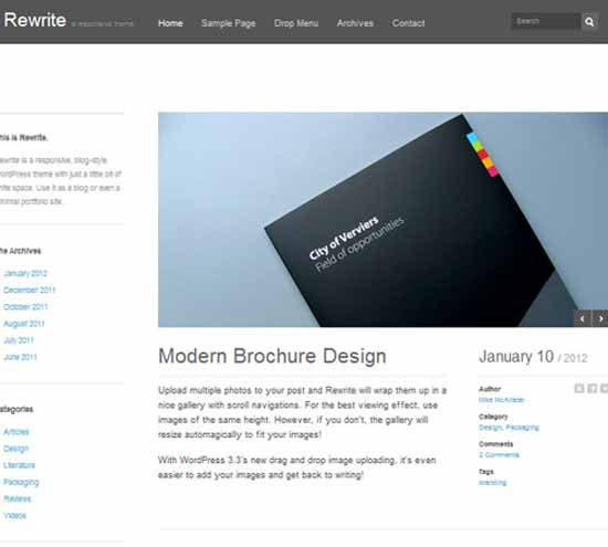Rewrite Responsive WordPress Theme